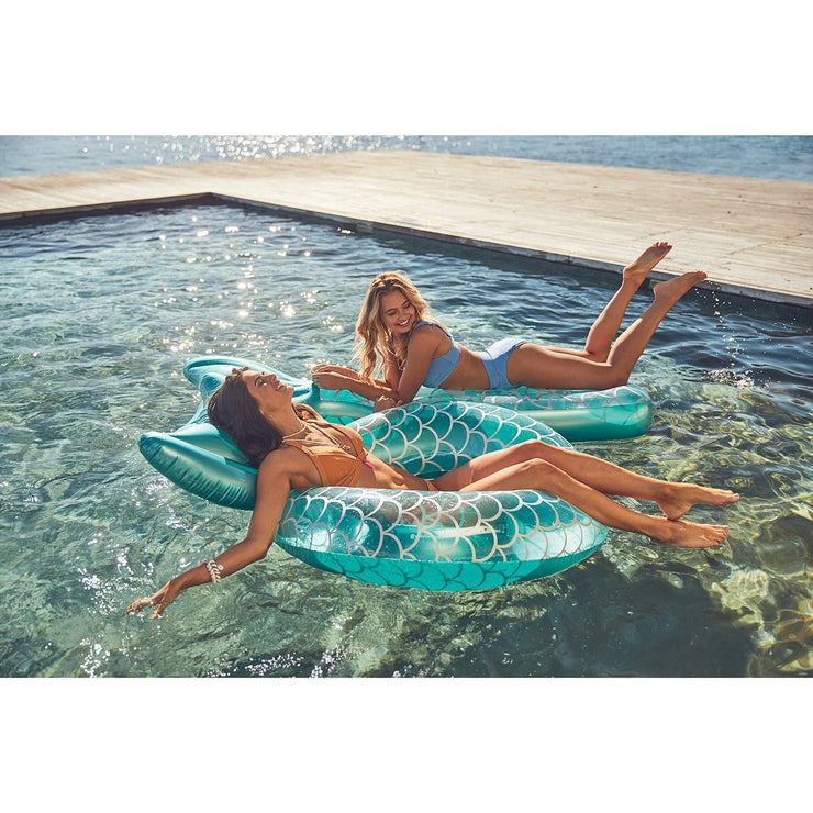 Sunny Days Luxe Pool Ring - Mermaid Tail
