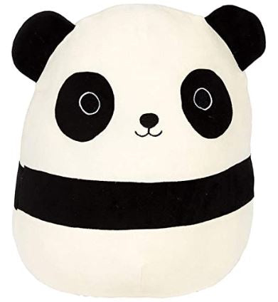 Squishmallow panda black and white