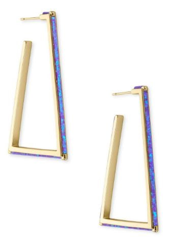 Easton Earring ~ Gold Violet Opal