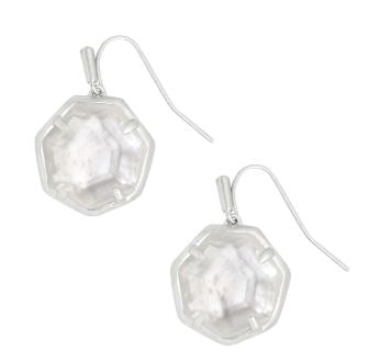 Cynthia Drop Earrings ~ Silver Ivory Mother of Pearl