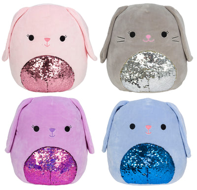 "Squishmallow 16"" Sequin Bunny - Assorted"