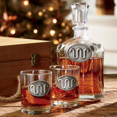 King Ranch Capitol Decanter Set