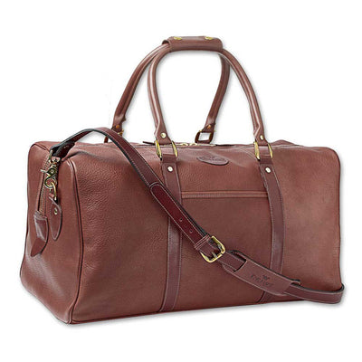 King Ranch Leather Campanero Duffel Bag in Chapparal