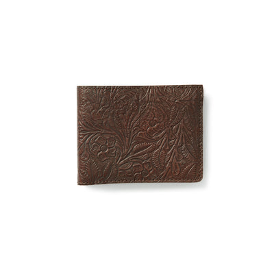 King Ranch Saddle Tooled Bi-Fold Wallet