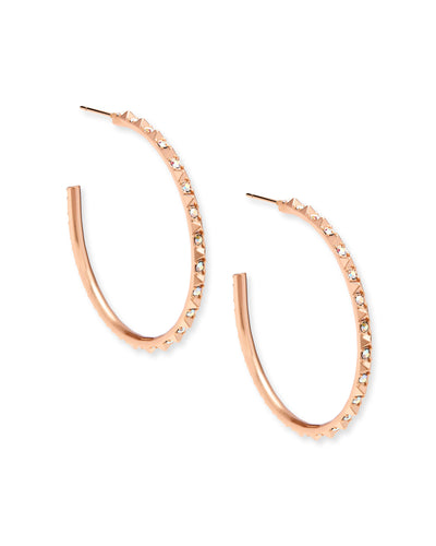 Veronica Hoop Earrings - Rose Gold