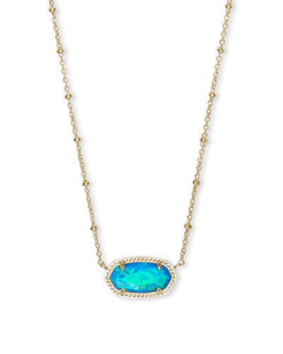 Elisa Satelite Necklace - Gold - Turquoise