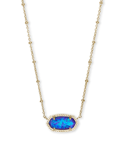 Elisa Satelite Necklace - Gold - Violet Opal