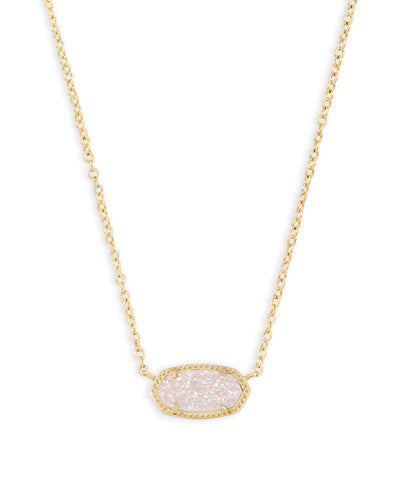 Elisa Necklace - Gold Iridescent Drusy