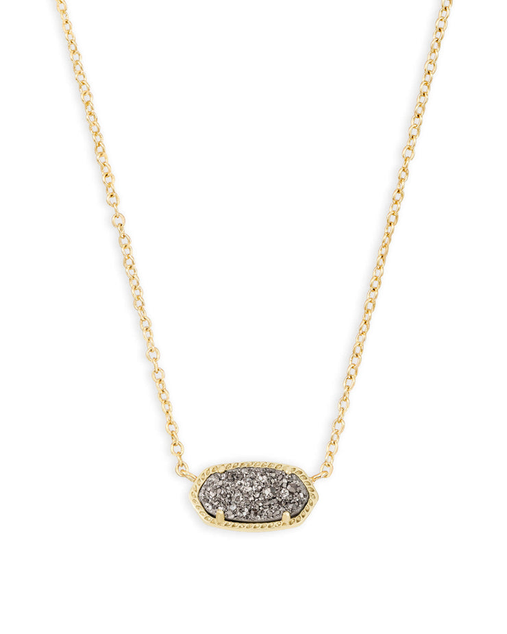 Elisa Necklace - Gold - Gold Platinum Drusy