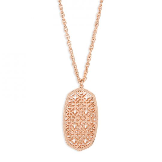 Rae Rose Gold Necklace ~ Filagree