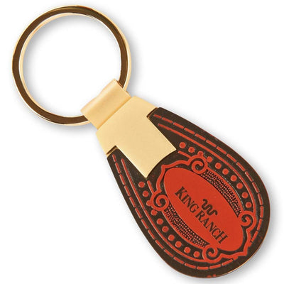 King Ranch Tooled Leather Key Ring