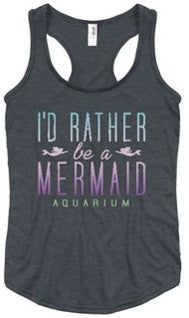 I'd Rather Be A Mermaid Ladies Tank