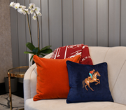 RODEO EMBROIDERED CUSHION COVER - NAVY