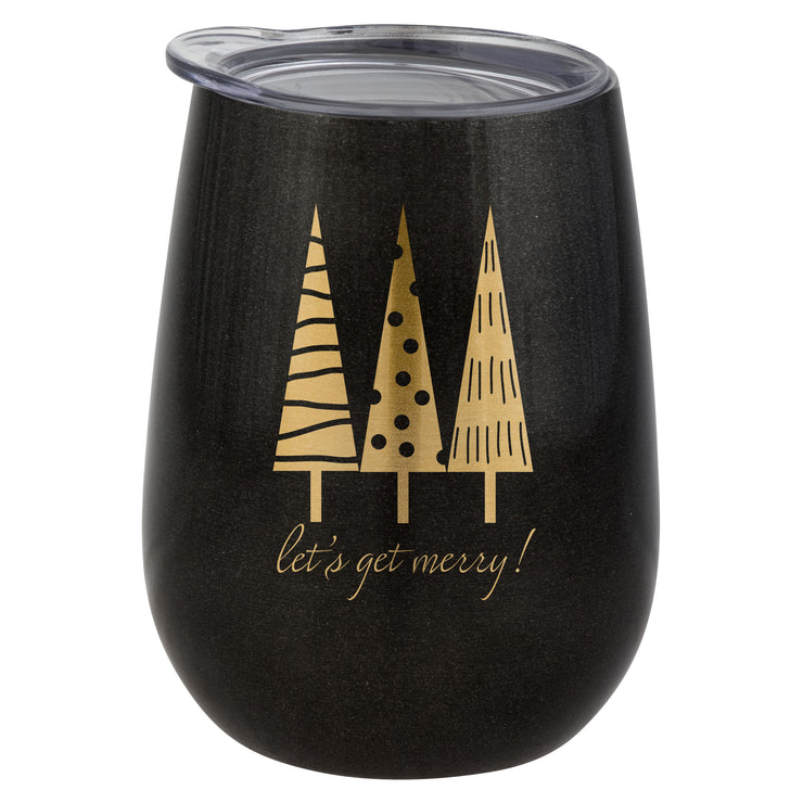 Karma Wine Tumbler - Let's Get Merry - Black