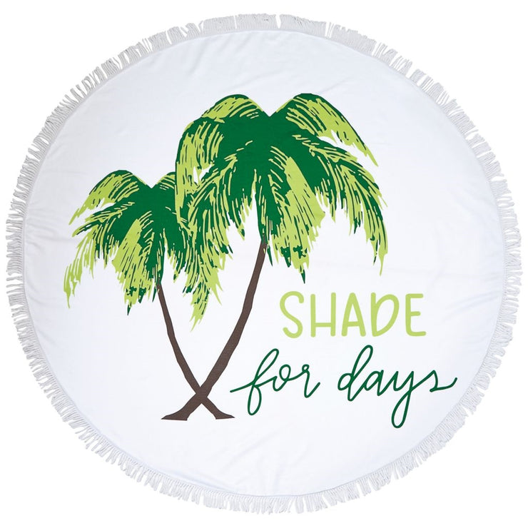 "Mud Pie ""Shade for Days"" Round Beach Towel"