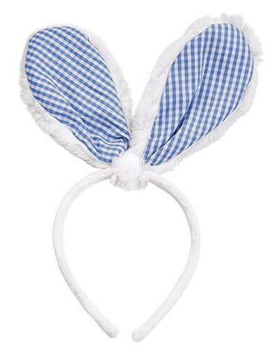 Mud Pie Gingham Bunny Ears Headband