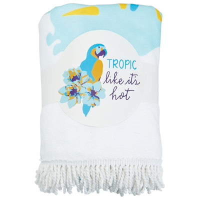 "Mud Pie ""Tropic Like It's Hot"" Round Beach Towel"