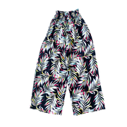 NEON PALM PRINT LADIES WIDE LEG PANT