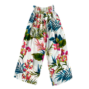 PALM TROPICAL PRINT LADIES WIDE LEG PANT
