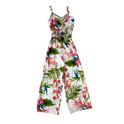 PALM TROPICAL PRINT LADIES  WIDE LEG JUMPSUIT