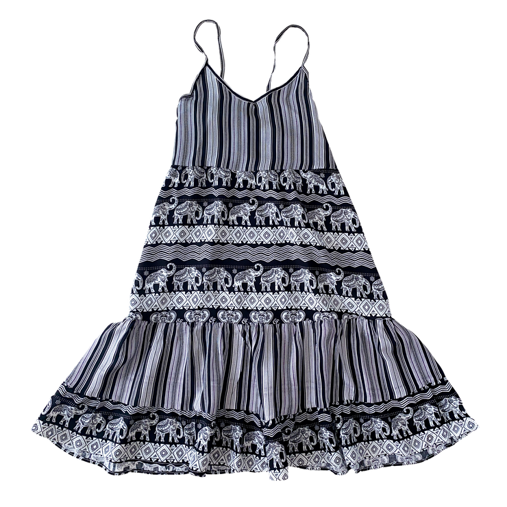 Ladies Mix Print Tiered Dress Mommy & Me Series