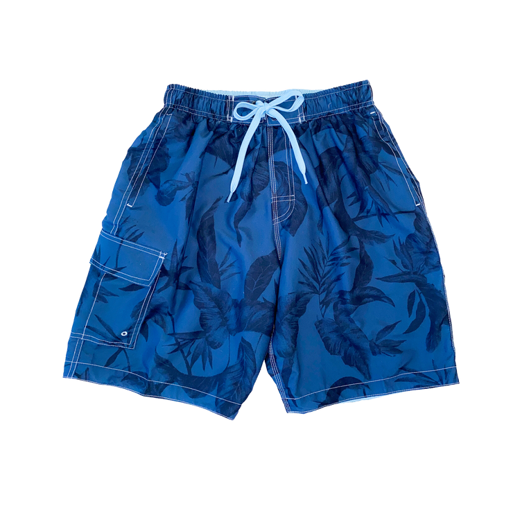 OCEAN PALM PRINT MEN'S BOARD SHORTS