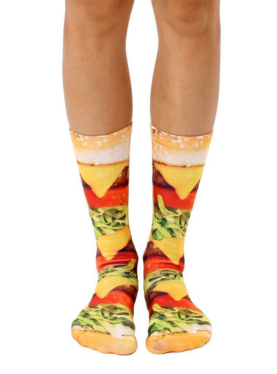 Living Royal Burger Love Crew Socks