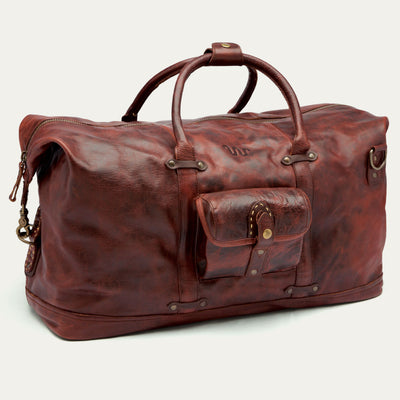 King Ranch Leather Caesar Duffle Bag