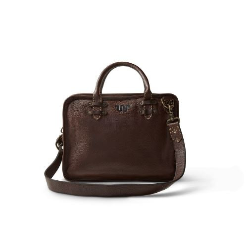 King Ranch Saddle Stitch Leather Briefcase