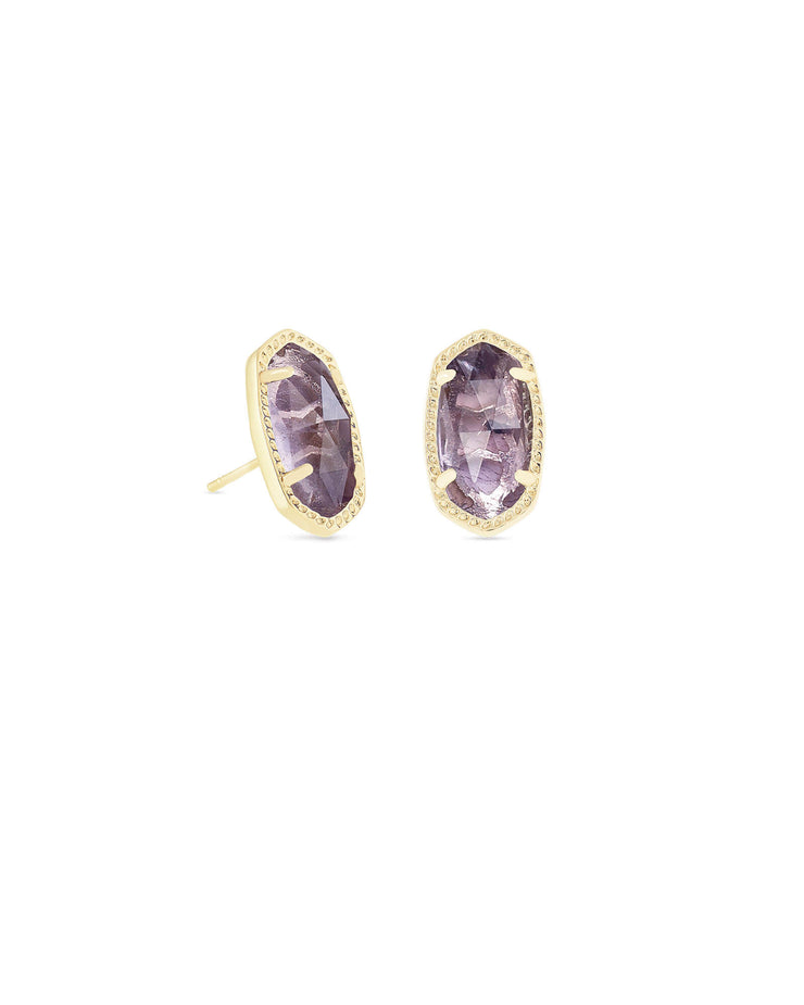Ellie Earring in Gold Amethyst Quartz