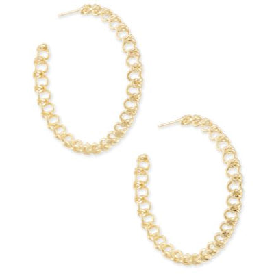 Kendra Scott Fallyn Hoop Earrings In Gold