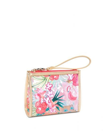 Spartina Flamingo Floral Retreat Beach Wristlet