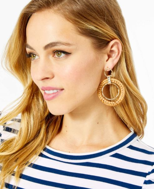 Lilly Pulitzer Garden Earring ~ Natural