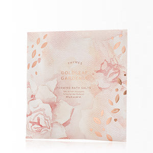 Thymes Goldleaf Gardenia Foaming Bath Salts
