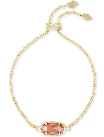 Elaina Gold Adjustable Chain Bracelet ~ Goldstone
