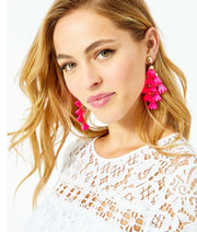 Lilly Pulitzer Hey Bouquet Earrings ~ Prosecco Pink