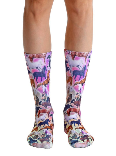 Living Royal Horse Heaven Crew Socks