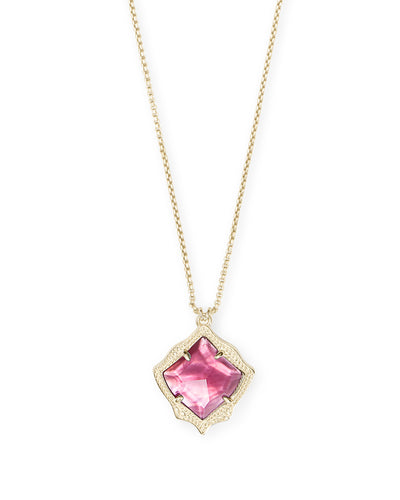 Kacey Necklace - Gold - Berry Illusion