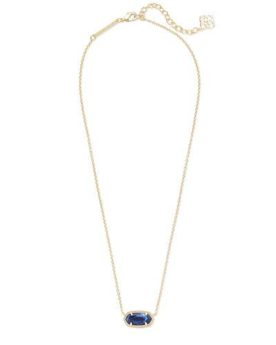 Elisa Necklace - Gold Cobalt Howlite