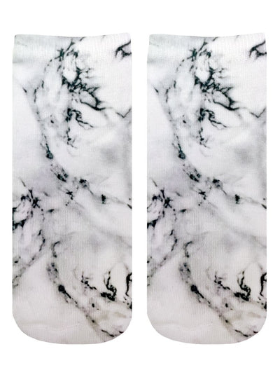 Living Royal Marble Gray Ankle Socks