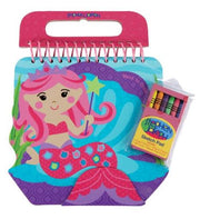 Mermaid Sketch Pad with Crayons