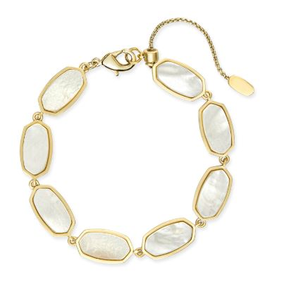 Millie Bracelet ~ Gold Ivory Mother of Pearl