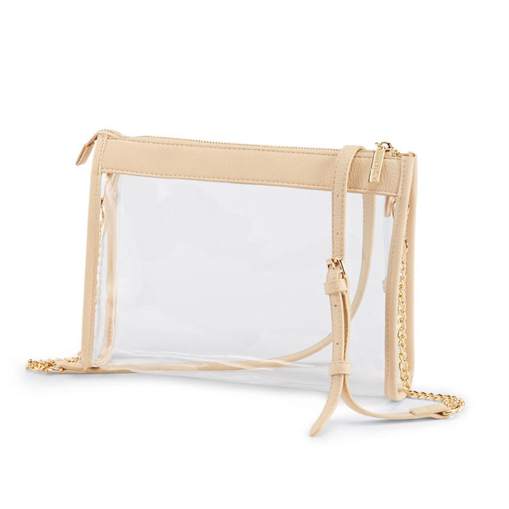 Mud Pie Clear Crossbody Purse