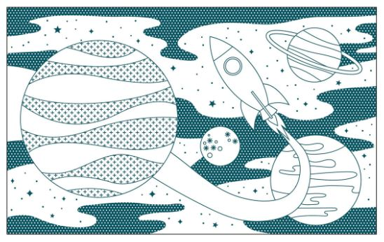 Petite Collage Outer Space Coloring Book