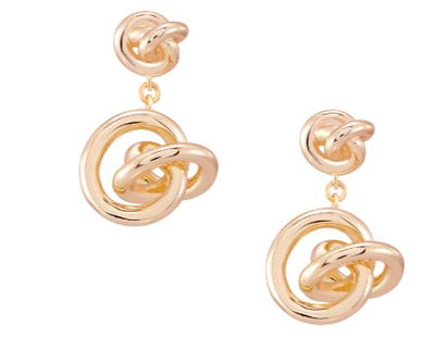 Kendra Scott Presleigh Love Knot Drop Earrings In Rose Gold