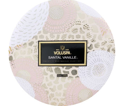 Voluspa Santal Vanille 3 Wick 12 oz. Tin Candle