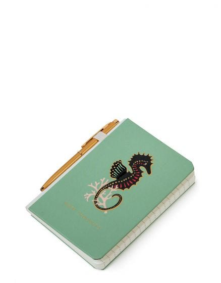 Spartina Seahorse Pocket Pen Notebook