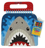 Shark Sketch Pad with Crayons