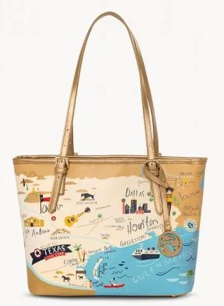 Spartina Texas Small Tote with Zipper Handbag