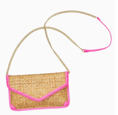Lilly Pulitzer St. Barts Cane Clutch ~ Natural